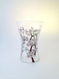 Cherry Blossom Vase, by Toasted Glass on Folksy, £34.00