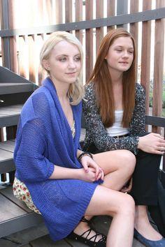 Bonnie Wright & Evanna Lynch ✨ x4
