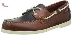 Sebago Spinnaker, Chaussures Bateau Homme, Bleu (Navy/Brown Leather), 46 EU - Chaussures sebago (*Partner-Link)