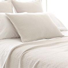 Lightweight, easy-care cotton makes this matelassé coverlet a shining gem.