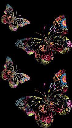 Reminds me of scratch art, crayon etching Butterfly Wallpaper Iphone, Cellphone Wallpaper, Flower Wallpaper, Galaxy Wallpaper, Wallpaper Backgrounds, Iphone Wallpaper, Phone Backgrounds, Butterfly Pictures, Butterfly Art