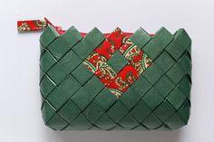 Candy Wrapper Bag, handmade clutch bag, coin purse