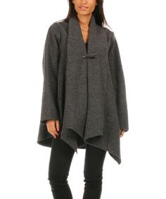 This Gray Wool Asymmetric Jacket is perfect! #zulilyfinds