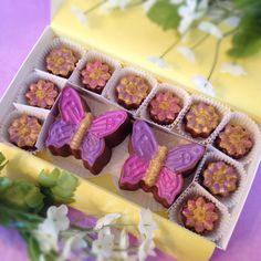 Chocolate Butterflies and Flowers  Mother's Day Gift