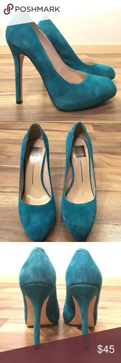 Dolce Vita suede heels Turquoise Dolce Vita suede heels worn once in great condition! Dolce Vita Shoes Heels