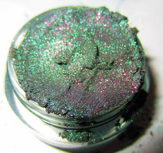 MINERAL EYE SHADOW Dragon Scale Emerald Green Purple by lumikkicosmetics,  WANT THIS
