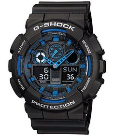 Men  Watches - Casio GShock GA1001A2 AnaDigi Speed Indicator Black Dial Mens Watch -- To view further for this item, visit the image link. (This is an Amazon affiliate link)