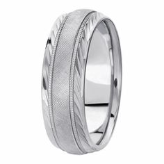 Hand Engrave Florentine Design Wedding Ring Complimented By Diamond Cut Wispy Edges For Men & Women Available In Various Finishes In Your Choice Of & White, Yellow, Rose & Two Tone Gold, Platinum & Palladium Wedding Ring For Her, Diamond Wedding Rings, Diamond Rings, Wedding Bands, Diamond Cuts, Dream Wedding, Wedding Ring Designs, Wedding Ideas, Hand Engraving