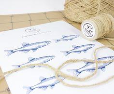 Free printable fish gift tags