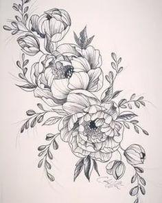 Art Drawings Sketches, Tattoo Sketches, Flor Oriental Tattoo, S Tattoo, Underboob Tattoo, Back Of Shoulder Tattoo, Floral Embroidery Patterns, Tattoo Inspiration, Blackwork