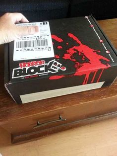 Unboxing this month's #HorrorBlock