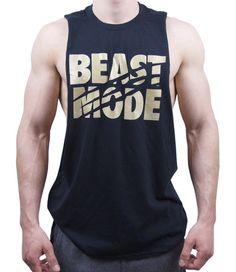 Beast Mode Cut Off T Shirt - Black