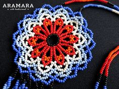 Dimensions Length 16.8 inches (42.67 cms) Diameter of the flower 2.5 inches (6.35 cms) The Huichol represent one of the few remaining indigenous cultures left in Mexico. They live in self-imposed isolation, having chosen long ago to make their home high in the mountains of the Sierra Madre