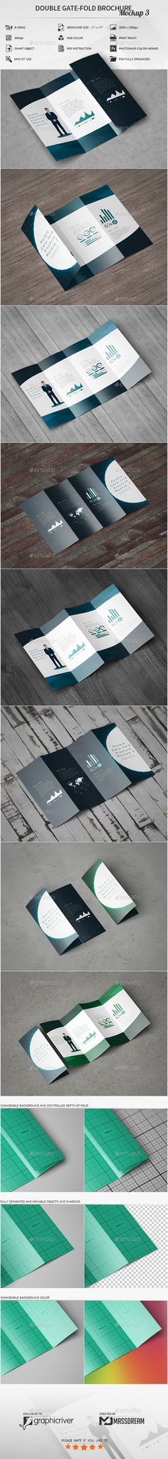 A Gatefold Brochure Mockup  Brochures Mockup And Flyer Template