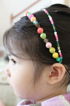 simply modern mom - beaded headband and necklace