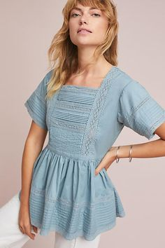 English Factory Cleo Lace-Trimmed Blouse