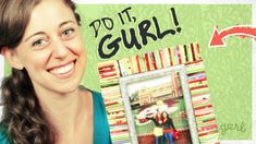 Rolled Magazine Picture Frame - Do It, Gurl