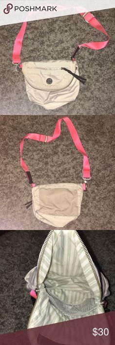 Lulu lemon crossbody bag White with adjustable strap crossbody purse. Well-used. lululemon athletica Bags Crossbody Bags