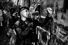 Chipping away at the Berlin Wall, 1989