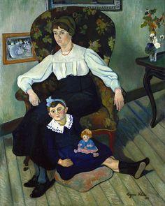 Marie Coca et sa fille Gilberte, 1918  Suzanne Valadon http://bjws.blogspot.de/2010/09/portraits-of-women-by-suzanne-valadon.html