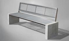 Public bench / contemporary / concrete / steel GRAVIS Gem. Westeifel Werke GmbH