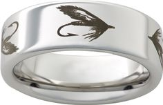 Inexpensive wedding rings Mens wedding ring fish