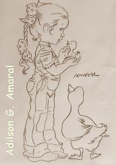Arte * Vida: Menina e o Patinho