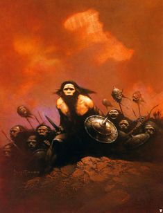Bran Mak Morn by Frank Frazetta. Frank Frazetta is one of the world's most influential fantasy and science fiction artists. You may recognize his art from covers of early Tarzan and Conan the Barbarian books, and other literature. Some people even use it as a source for tattoo art.