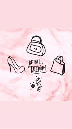 Instagram Highlight Icons, Story Highlights, Retail Therapy, Vs Pink, Instagram Story, Marble, Social Media, Wallpapers, Logos