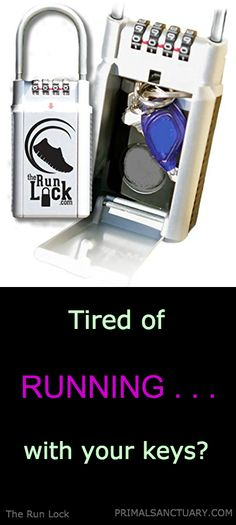 Running with your car keys is cumbersome. The Run Lock provides secure storage for your keys when you run. The Run Lock is a portable, weather resistant key safe that can be secured almost anywhere.