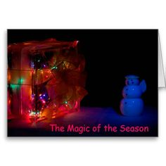 Magic Christmas Season Card by Florals by Fred #zazzle #photogift #gift #Christmas