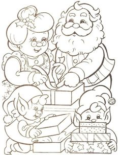 Families Of Mr Santa Claus Christmas Coloring Pages Printable