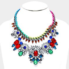 Bejeweled Crystal Statement Necklace