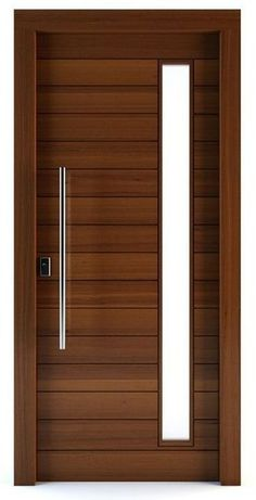 Flush Door Design, Single Door Design, Wooden Front Door Design, Door Gate Design, Wooden Front Doors, Double Door Design, Modern Entrance Door, Modern Wooden Doors, Modern Door