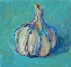 Amy Whitehouse Paintings: Little Garlic, Acrylic Still Life by AZ Artist Amy Whitehouse