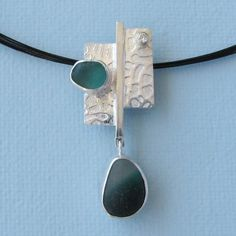 Check out the deal on Seaglass Jewelry Pendant Necklace - Sterling and Gold with Diamond at Eco First Art