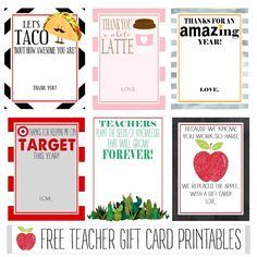 25 Electronic Gift Card Options and 8 Teacher Gift Card Printables - Crisp Collective Christmas Gift Card Holders, Teacher Christmas Gifts, Teacher Gifts, Parent Gifts, Thanks Teacher, Electronic Gift Cards, Teacher Cards, Teacher Appreciation Week, Free Gift Cards
