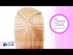 semirecogido con trenza para cabello largo y corto