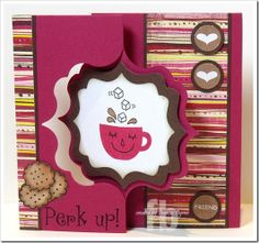 Frances Byrne created this great Sizzix Fancy Frame Flip it Card.
