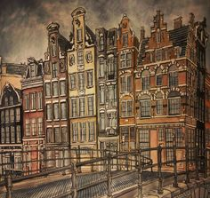 """#fantasticcities #coloringbook #drawing #amsterdam"""