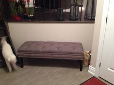 Bench in foyer