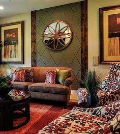 Nailhead trim on wall Living Room Redo, Wall Trim, Nailhead Trim, Dining Area, Master Bedroom, Wall Decor, Interior Design, Chair, Family Rooms