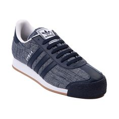 Shop for Mens adidas Samoa Textile Athletic Shoe, Blue Blue White, at Journeys Shoes. Textile version of the classic soccer-inspired sneaker from adidas, this Somoa Textile features a blue textile upper with navy blue leather overlays at the toe and heel, and whats more, its available only at Journeys! Features a mesh padded collar, reinforced toe, lace closure and durable rubber outsole. Available only at Journeys!