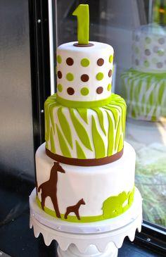 Safari Baby Shower Cakes | Modern Safari Baby Shower Cake - a photo on Flickriver