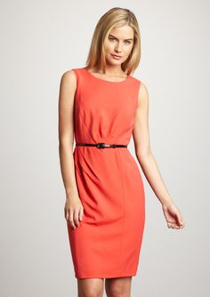 Ellen Tracy Scoop Neck Sheath Dress