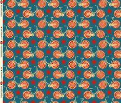 "Bicycle fabric... I love the designer ""Pennycandy"".  Fun stuff!"