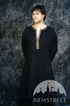 Black Medieval IX-X Century Design Male Tunic. $49.00, via Etsy.