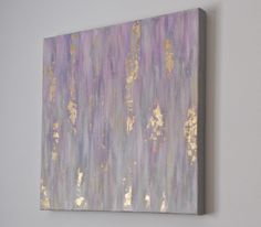 "Radian Orchid, Gold leaf Abstract painting | ""Smitten"" by Kellie Morley"