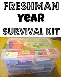 DIY Graduation Gifts That Will Make You A Superstar Freshman Survival kit is the perfect gift idea for any college student.Freshman Survival kit is the perfect gift idea for any college student. High School Graduation Gifts, Graduation Diy, College Gifts, College Hacks, Graduate School, College Care Packages, Dorm Hacks, Graduation Parties, Graduation Gift Baskets