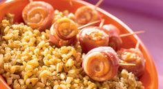 Des rouleaux de jambon et de poulet accompagnent agréablement l'Ebly dans ce plat à l'italienne.